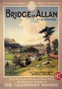 Bridge of Allan, Stirlingshire, Scotland, Golfing Travel Poster. The Caledonian Railway. Gleneagles